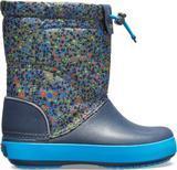 Dětské zimní boty CROCBAND LodgePoint Graphic K - Slate Grey/Navy, vel. 32-33, Crocs - 3/3
