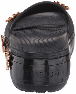 Pantofle METALLIC BLOOMS SLIDE M8/W10 black, Crocs - 3