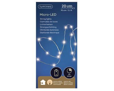 Micro LED světelný řetěz, 95cm - 20xLED, Kaemingk - 3