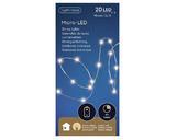 Micro LED světelný řetěz, 95cm - 20xLED, Kaemingk - 3/3