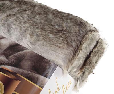 Kožešinová deka  150x200, vzor medvěd KODIAK, Gözze - 3