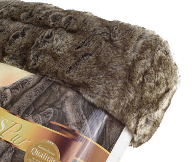 Kožešinová deka  150x200, vzor VLK, Gözze - 3