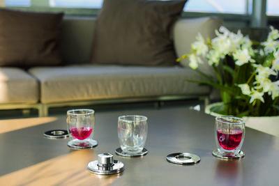 SET 7ks - podložky pod skleničky RINGS, Philippi  - 3
