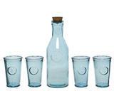 SET 5ks - karafa se sklenicemi v dárkovém balení, recyklované sklo, Kaemingk - 3/4