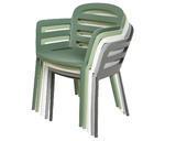 Stohovací židle BOSTON, 56,5x59x81cm, antracit, venkovní, Kaemingk - 3/5