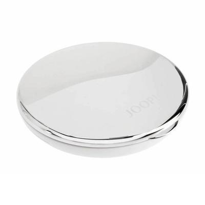 Zrcátko do kapsy kosmetické CHROMELINE 9 cm - chrom/bílý, JOOP! - 3