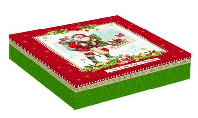 Vánoční etažér 2 patra VINTAGE XMAS 20/16 cm, Easy Life - 4
