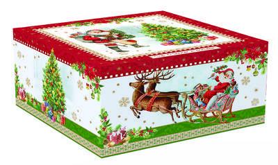 Vánoční šálek & podšálek VINTAGE SANTA RED 250 ml, Easy Life - 4