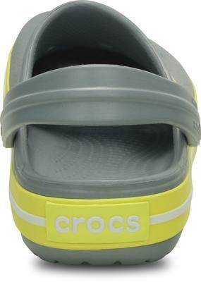 Boty CROCBAND KIDS C6/7 concrete/chartreuse, Crocs - 4