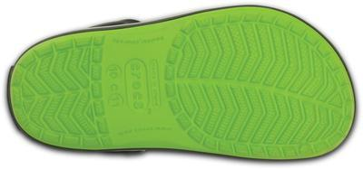 Boty CROCBAND KIDS C6/7 volt green/graphite, Crocs - 4