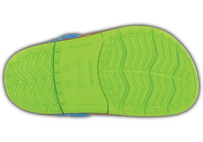 Boty CROCSLIGHTS DINOSAUR CLOG C10 volt green/ocean, Crocs - 4