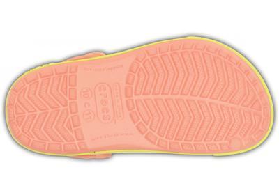 Boty CROCBAND II.5 CLOG KIDS C6/7 melon/chartreuse, Crocs - 4
