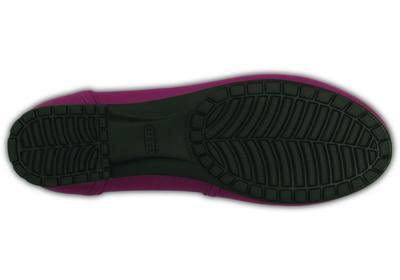 Balerínky MARIN COLORLITE FLAT W10 plum/black, Crocs - 4