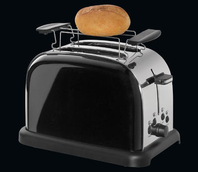 Toaster na dva plátky RETRO - černý, Cilio - 4