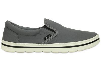 Boty NORLIN SLIP-ON MEN'S M11 charcoal/white, Crocs  - 4
