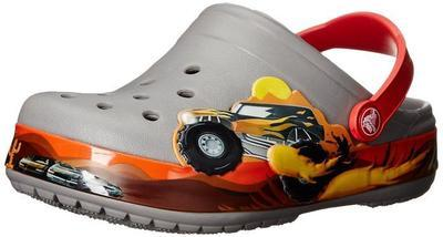 Boty CROCBAND MONSTER TRUCK CLOG KIDS C10 smoke, Crocs - 4