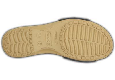 Pantofle SARAH SANDAL W9 navy/gold, Crocs - 4