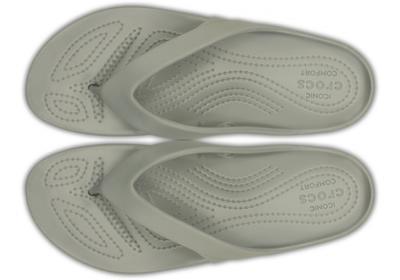 Žabky WOMEN'S KADEE II FLIP W5 silver, Crocs - 4