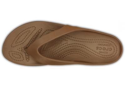 Žabky WOMEN'S KADEE II FLIP W6 bronze, Crocs - 4