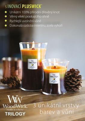 Svíčka vonná TRILOGY - Hřejivé dřevo - 609,5 g, WoodWick - 4
