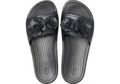 Pantofle SLOANE VIVIDBLOOMS SLD W8 black/black, Crocs - 4