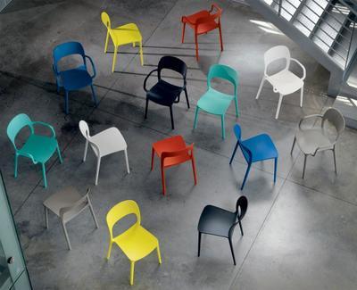 Židle s područkami GIPSY - lime yellow, Bontempi - 4