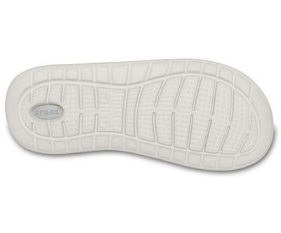 Pantofle LITERIDE SLIDE M11 smoke/pearl white, Crocs - 4