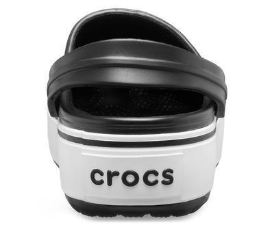 Boty CROCBAND PLATFORM CLOG M8/W10 black/white, Crocs - 4
