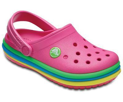 Boty CB RAINBOW BAND CLOG KIDS J2 paradise pink, Crocs - 4