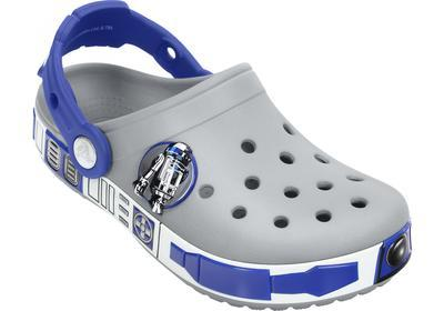 Boty STAR WARS R2D2 CLOG C6/7 light grey/cerulean blue, Crocs - 4