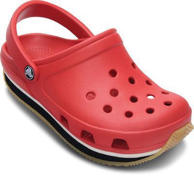 Boty RETRO CLOG KIDS C10/11 red/black, Crocs - 4