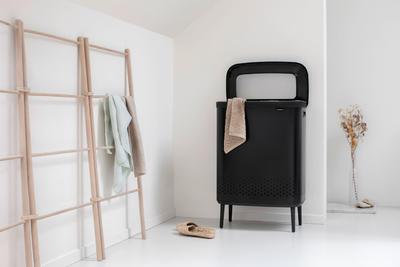 Koš na prádlo BO 2x45l, matná černá, Brabantia    - 4