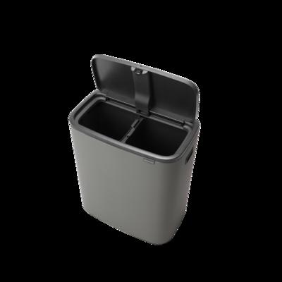 Odpadkový koš Touch Bin 2x30L , minerální světle šedá, Brabantia - 4