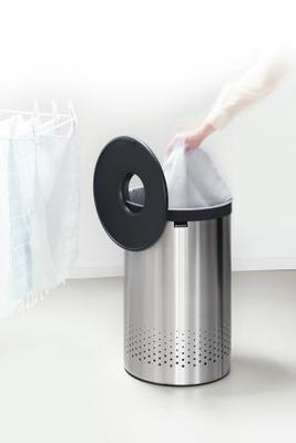 Koš na prádlo 60l, matná ocel, Brabantia - 4