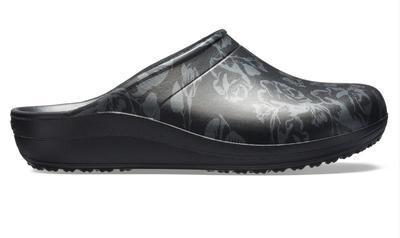 Pantofle SLOANE GRAPHIC CLOG W7 metallic rose/black, Crocs - 4