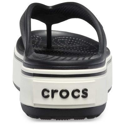 Pantofle CROCBAND PLATFORM FLIP M6/W8 black/white, Crocs - 4