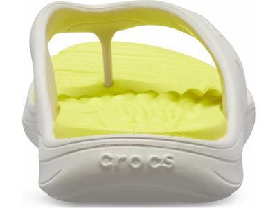 Žabky REVIVA FLIP M6/W8 pearl white/citrus, Crocs - 4