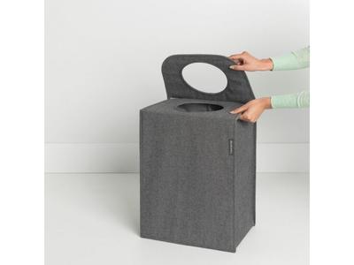 Taška na prádlo 55l, tm. šedý melír, Brabantia     - 4