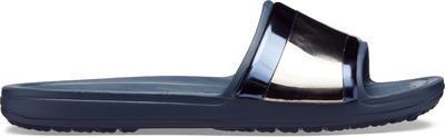 Pantofle SLOANE METALBLOCK SLD W11 multi navy/navy, Crocs - 4