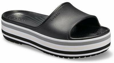 Pantofle CB PLATFORM BLD COLOR SLIDE M7/W9 black, Crocs - 4