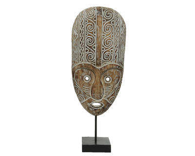 Dekorace MASKA, 21x56cm, antik, 2 druhy, Kaemingk - 4