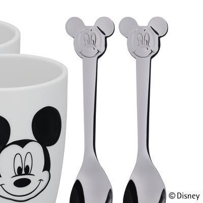 Sada 2poháry, 2lžičky Mickey, WMF - 4