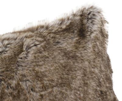 Kožešinový polštář 50x50, vzor VLK, Gözze - 4