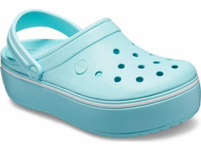 Boty CROCBAND PLATFORM CLOG M8/W10 ice blue/ice blue, Crocs - 4