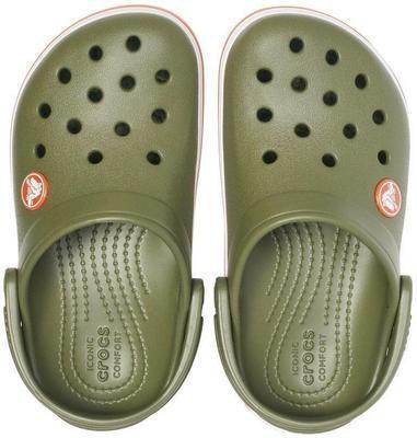 Boty CROCBAND CLOG KIDS C5 army green/burnt sienna, Crocs - 4