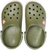 Boty CROCBAND CLOG KIDS C5 army green/burnt sienna, Crocs - 4/6