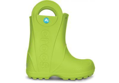 Holínky HANDLE IT RAIN BOOT KIDS J1 volt green, Crocs - 5