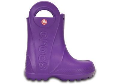 Holínky HANDLE IT RAIN BOOT KIDS J2 neon purple, Crocs - 5