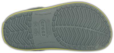 Boty CROCBAND KIDS C6/7 concrete/chartreuse, Crocs - 5