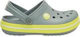 Boty CROCBAND KIDS J2 concrete/chartreuse, Crocs - 5/7